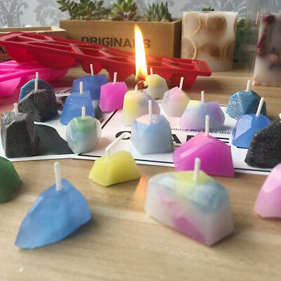 Gemstone Wedding Candle DIY Silicone Mold Soap Mould Deco Craft Jewelry Mold • 4.65£