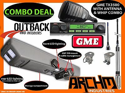AU1270 • Buy Overhead Roof Console + Gme Uhf Radio & Antenna Combo For Toyota Hilux 1997-2018