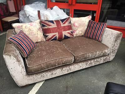 £1295 • Buy ✰ Sofology EDGWARE ✰ 3 + Wing Chair  ✰Beige Fabric ✰ Union Jack ✰ Vintage Style