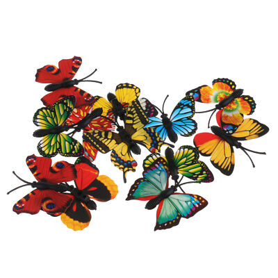 £2.48 • Buy New 12pcs Multicolor Nature Insects Butterfly Figures Model Educational Toy