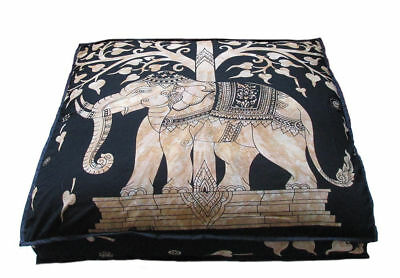£13.99 • Buy 35  Large Gold Mandala Elephant Floor Pillow Cushion Cover Dog Bed Covers Indian
