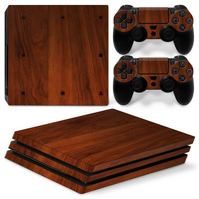 AU16.08 • Buy Wood Style For Sony Playstation PS4 PRO Console Stickers & 2 Controllers Skin