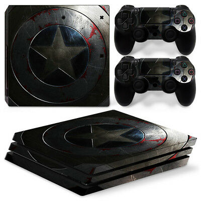 AU16.08 • Buy Captain America For Playstation PS4 PRO Console Stickers & 2 Controllers Skin