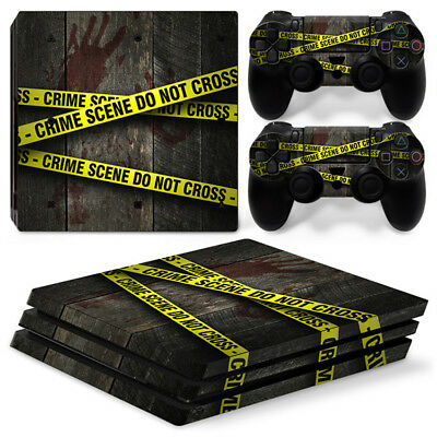 AU16.08 • Buy Crime Scene Skin For Playstation PS4 PRO Console Stickers & 2 Controllers Skin