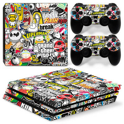 AU16.92 • Buy Funny Game Skin For Playstation PS4 PRO Console Stickers & 2 Controllers Skin