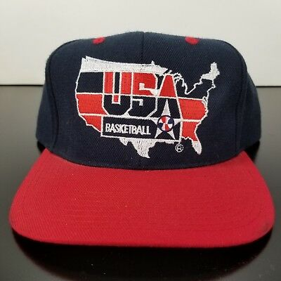 3b956e839219e5 NOS Vintage Pro Player 1992 Dream Team USA Olympics Basketball SnapBack Hat  • 76.49