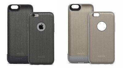 Moshi IGlaze IPhone 6s / 6 Removable Battery Charging Case Cover - Black / Grey • 12.99£