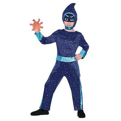 Official PJ Masks Night Ninja Villain Costume Boys Fancy Dress Costume & Splat • 16.37£