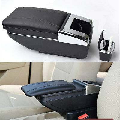 $108.89 • Buy Car Armrest Cover Center Console Storage Box Adjustable Cup Holder PU Leather