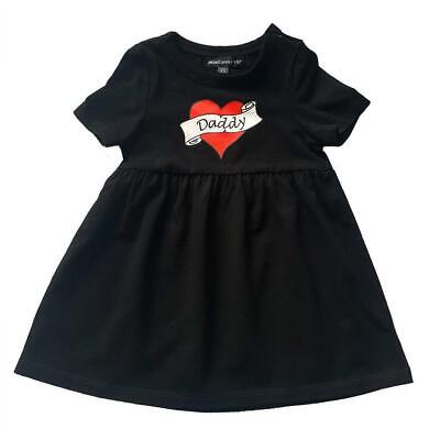 Metallimonsters Daddy Heart Tattoo Dress Alternative Baby Goth Punk Rock Metal  • 16.99£