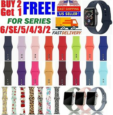 $5.95 • Buy Silicone Nylon Sport Band Strap For Apple Watch Series 5 4 3 2 1 42/44mm 38/40mm