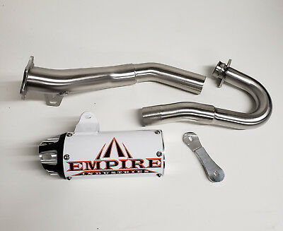 $559 • Buy HONDA TRX 450R EMPIRE Full SHORTY Aftermarket Exhaust System WHITE Pipe 04 05