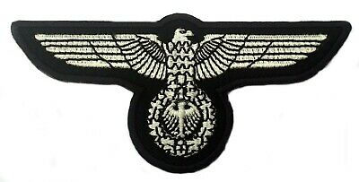£4.99 • Buy WW2 GERMAN MILITARY EAGLE PATCH WEHRMACHT 3rd REICH ERA STYLE REPRO Aufnäher NEW