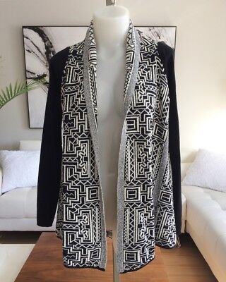 $ CDN64.94 • Buy *NEW* ANTHROPOLOGIE FIELD FLOWER Stamped Jacquard Cardigan Sweater Small