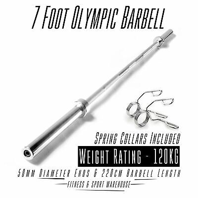 AU156 • Buy 7FT Olympic Bar 7 Foot OLY Barbell Weight Lifting Strength Commercial 300lb