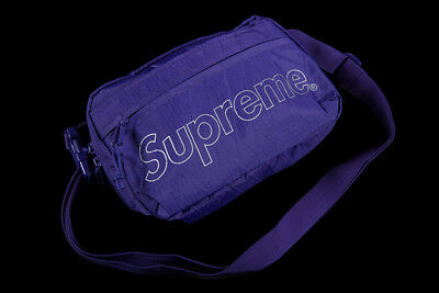$ CDN247.25 • Buy Supreme Shoulder Bag Purple Fw18 Cordura Black Red Yellow Box Waist Logo Cdg