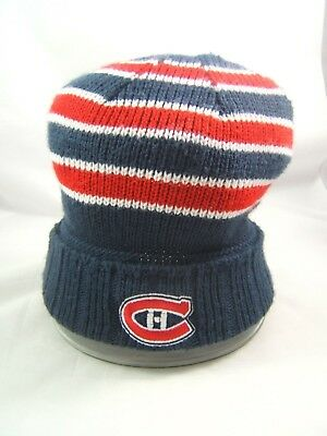 size 40 c96e9 35a40 Montreal Canadiens NHL Hockey Winter Hat Reebok Toque Beanie Stocking Cap •  13.71