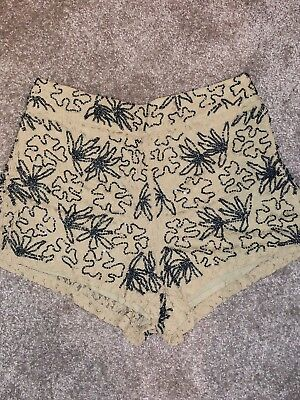Topshop Sequin Embellished Lace Shorts Size 8  • 16£