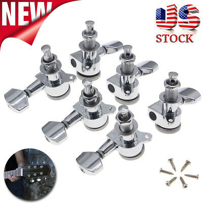 $17.06 • Buy 3L + 3R Guitar Locking Tuners Tuning Pegs Machine Heads For Electric Acoustic US