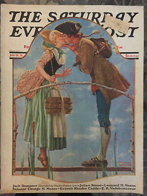 $ CDN44.06 • Buy Saturday Evening Post 7/25/31 COVER ONLY Norman Rockwell  The Milkmaid