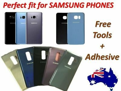 AU13.87 • Buy Samsung Galaxy S8 S7 S9 S6 Note 5 8  Back Rear Glass Housing Battery Cover Case