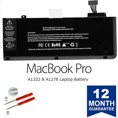 $27.93 • Buy Brand New A1322 Battery For Apple MacBook Pro 13'' A1278 2009/2010/2011/2012