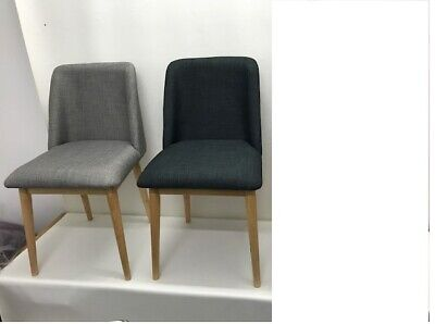 AU99 • Buy NEW Cafe Dining Chairs Charcoal/Ash/Beige
