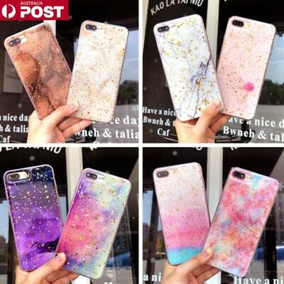 AU6.99 • Buy Galaxy Marble Pattern Soft Bling Case Cover For IPhone 6/7/8/Plus/XS/MAX/XR