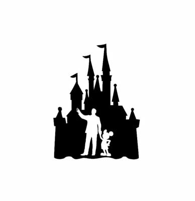 Fairytale Castle Walt Disney & Mickey Mouse Inspired Novelty Decal-various Sizes • 2.49£