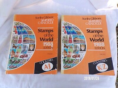 £33.44 • Buy Stanley Gibbons Simplified Catalogue  Stamps Of The World 1988 2 Tomes