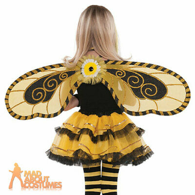 Girls Bumble Bee Fairy Wings Girls Kids Child Insect Fancy Dress Accessory • 7.99£
