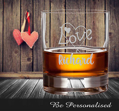AU22 • Buy Valentine's Day Personalised Scotch Bourban Glass Engraved Gift Husband For Him