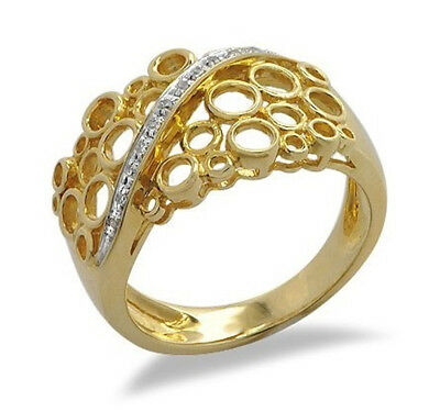 $995 • Buy 18K Solid Gold Ring With Diamond Size 7