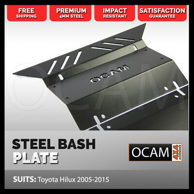 AU159 • Buy OCAM Steel Bash Plates For Toyota Hilux N70 SR SR5 2005-15 4mm, Black
