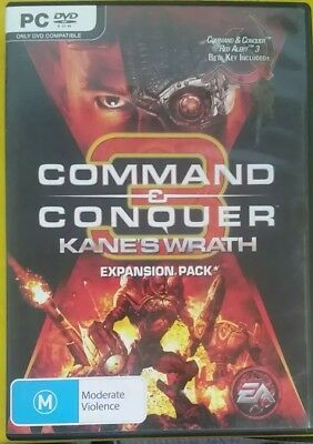 AU29.95 • Buy Command & Conquer 3 Kane's Wrath Expansion Pack (PC, 2008) PC Game - FREE POST