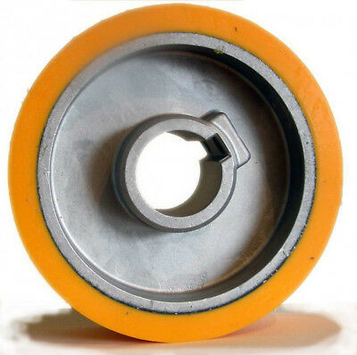SCM Moulders Rubber Feed Roller Dia=140 Wide=50 Bore=35 For Power Feed • 142.99£