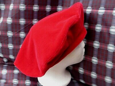 Re-enactment *WOOL VELVET*  MEDIEVAL TUDOR ROUND HAT BERET LINED WITH COTTON • 19.99£