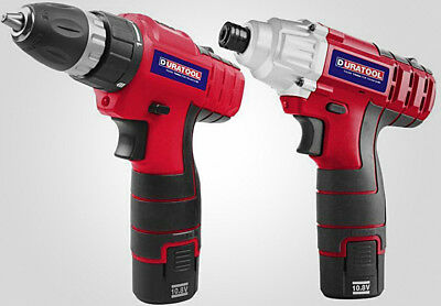 £82.77 • Buy Drill Driver And Impact Drill Set 2x 1.5Ah Batteries Fast Charger Carry Case Kit