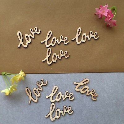 £4.99 • Buy  'LOVE' Wooden Decorations TABLE CONFETTI Wedding/Engagement/Valentine/Craft