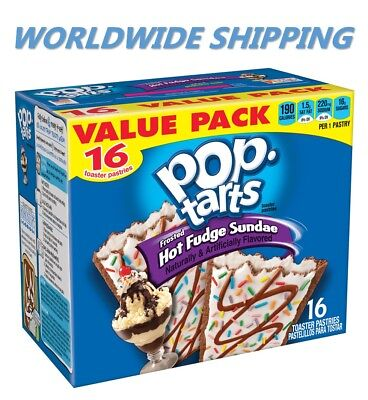 £9.79 • Buy Pop-Tarts Frosted Hot Fudge Sundae Toaster Pastries 16 Ct WORLD SHIPPING