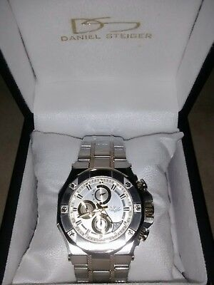 Daniel Steiger Phantom RX Two-Tone Mens Chronograph Quartz Watch, New. • 210$