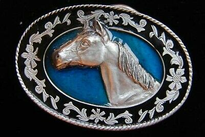 $12.95 • Buy Small Horse Head Western Style Belt Buckle Childrens New!