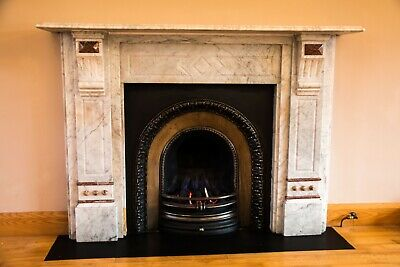 Solid Marble Fireplace Bespoke Italian Architectural Model - Superb Condition. • 1,350£