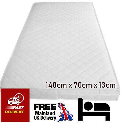 £25.49 • Buy Baby Toddler Cot Bed Mattress Quilted Breathable Extra Thick 140 X 70 X 13