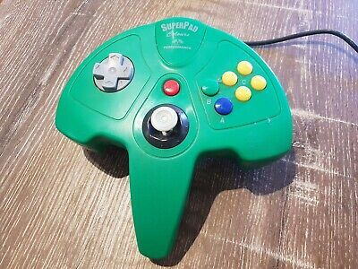 AU20 • Buy N64 SuperPad Controller - Green - Unofficial