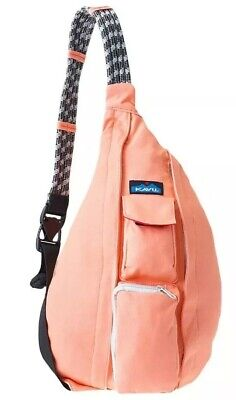 e36628a392 Kavu ROPE BAG Sling Backpack Canvas Shoulder Messenger Bag CORAL Peach NWT!  • 42.00