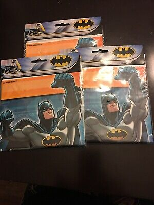 3 Pack BATMAN LOOT Treat Surprise Birthday Party Gift BAGS 9 X 65 Lot New O