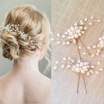 $0.76 • Buy Women Wedding Bridal Pearl Flower Crystal Hair Pins Bridesmaid Clips Side Comb