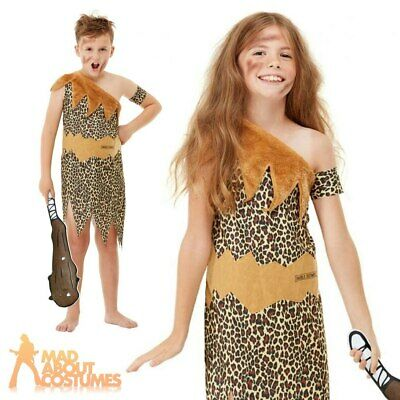 £12.29 • Buy Kids Horrible Histories Cave Girl Boy Costume Book Week Day Fancy Dress Outfit