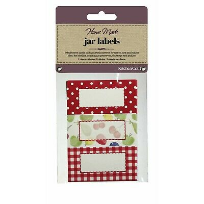 Kitchen Craft JAR LABELS RED ORCHARD Self Adhesive Jam Jar Pot GIFT Tag  • 3.45£